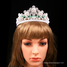 Belle fleur design Tiara nuptiale strass couronne