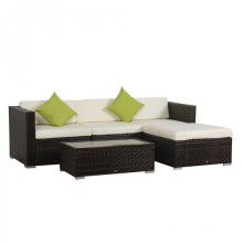 Outdoor Rattan Wicker Sofa Set with Coffee Table