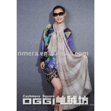 100% cashmere jacquard scarf /shawl with wrie /fashion scarf