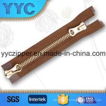 # 5 2 Ways Black Nickle Metall Zipper für Taschen