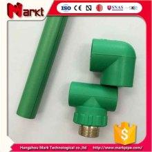 DIN 8077-8078 PPR Pipe Fitting em cor verde