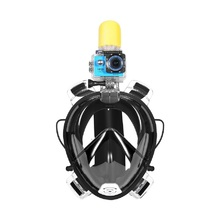 Full face swimming snorkel mask with earplug