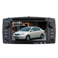 Ajuste de 2DIN coches reproductor de DVD para Toyota Corolla E120 2003 con sistema de navegación de GPS de TV estéreo de Radio Bluetooth
