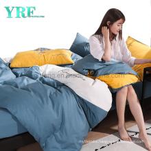 Hot Selling Motel Stitching Pattern Modern Design Cotton Bed Sheet