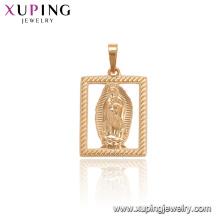 33727 xuping new design gold rectangle portrait religious fashion pendant