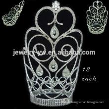 Cristal lleno redondo corona tiara duende sorpresa navidad desfile coronas