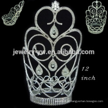 Cristal, cheio, redondo, coroa, tiara, duende, surpresa, natal, pageant, coroas