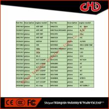 Pistón del motor diesel para B3.3 4BT3.9 6BT5.9 6CT8.3 6L8.9 ISBe ISDe ISLe QSB QSC QSL ISF M11ISM QSM K19 Q50 QSK ISX QSX NT855