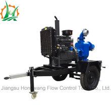 Industrial Self-Priming Sewage Trash Diesel Trailer Pump