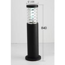 Lámpara de pie al aire libre del jardín del LED negro (KM-F251 / M)