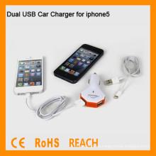 Cargador dual del coche del USB para iphone5