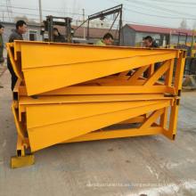 rampa de carga fija para traliers, contenedor hidráulico nivelador de muelle eléctrico