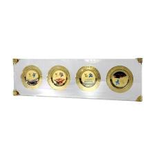 APEX Transparenter 4er-Pack Acryl-Medaillen-Münzenständer