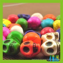 Verkaufe gefärbte Howlith Skull Perlen Türkis Skull Beads
