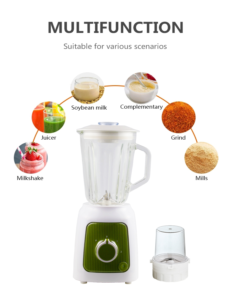 1.6L Glass Container Blender Food Processor Combo