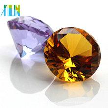 80MM lapidado diamante de cristal ensolarado decorativo para lembranças de casamento
