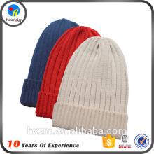 high quality plain custom knitted caps