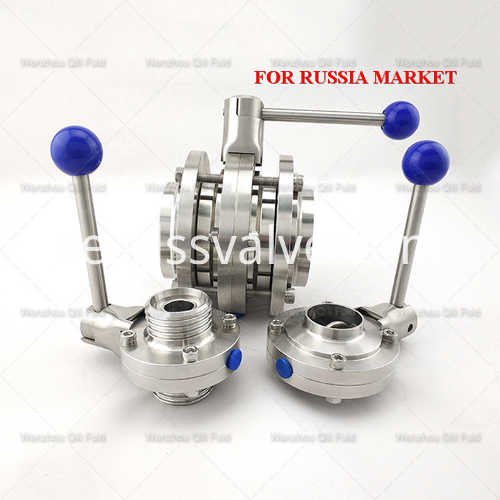 Sanitary stainless steel butterfly valve x110