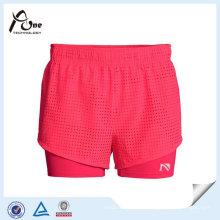 Pantalon de gymnastique rose en gros de style gymnase, plus la taille des shorts