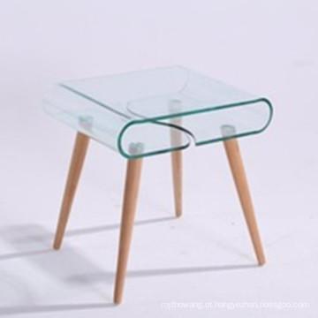 Moderno tipo de vidro temperado para mesa de café