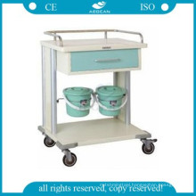 AG-MT029 CE ISO smaller drawers metal frame clinic utility hospital ultrasound carts