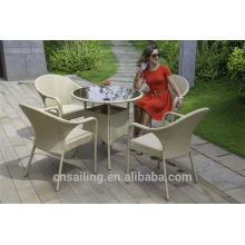 Hot sale Outdoor All Weather clear acrylic table and chairs