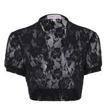 Belle Poque Women's Short Sleeve Cropped Short Lace Bolero Shrug BP000217-1