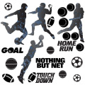 Football Lover Paper Stickers Custom Pvc Removable Decors Sticker,Vinyl Wall Sticker Decals