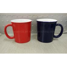 14oz Kaffeetasse, Keramikbecher 14oz, Becher mit zwei Tönen Keramikbecher