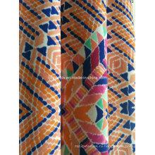 Оранжевый треугольник печать ткань для спортивной одежды (HD1401111)