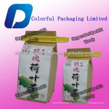 Sacs de emballage de papier de Kraft de 150g pour le thé de café avec la cravate d'étain / sachets de thé adaptés aux besoins du client de nourriture de café de kraft