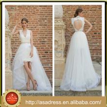 BIE-18 2015 nueva llegada Sweethaert Wedding vestido de novia atractivo de la parte posterior del vestido de boda del vestido de boda de la alta calidad atractivo para los bodas de la playa