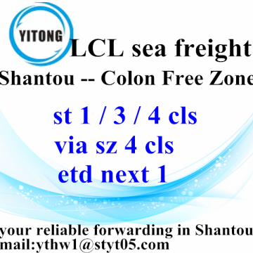 Fret de Shantou International maritime de la Zone franche de Colon