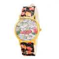 Popular Girls Flower Silicone Strap Quartz Watch