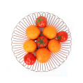 Easy Carrying Bowl Shape Hardware Fruit  Wire Basket Storage Vegetable Baskets for Home Decoration
