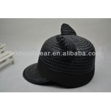 Caliente-vendiendo el sombrero natural del sol-shading de la paja del verano lindo de los oídos del gato