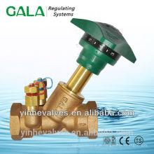 Válvulas de equilíbrio reguladoras de orifício duplo