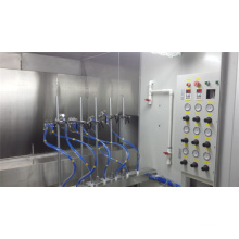 Automatic spray painting line