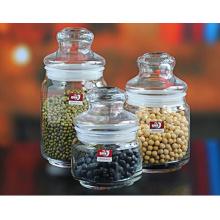 Frasco de vidro e frasco de vidro com tampa Capacidade diferente