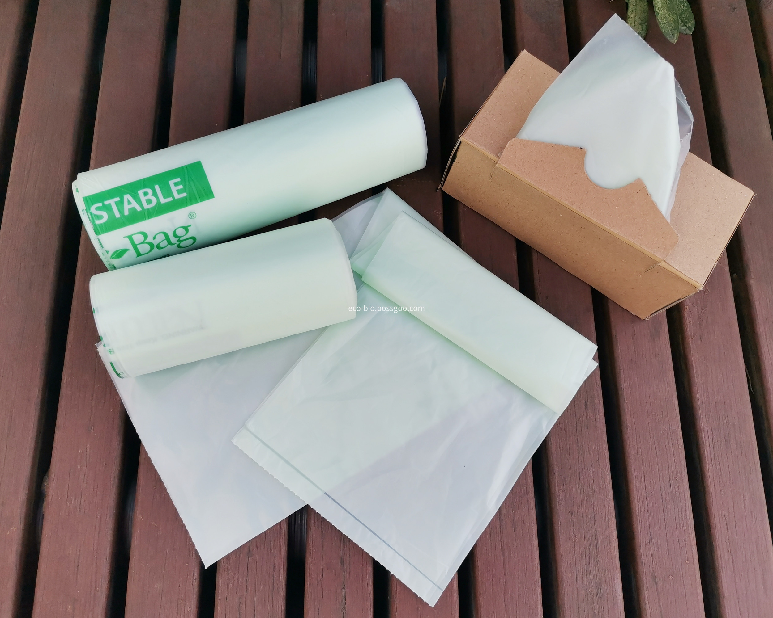 Biodegradable Compostable Plastic Trash Bag On Roll