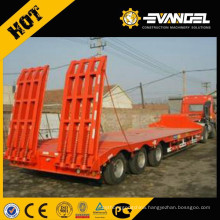 Heavy duty hydraulic 3 axles low bed semi-trailer/head truck trailer 40 tons
