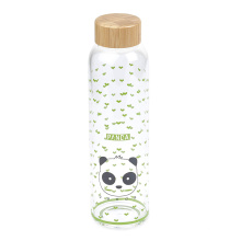 New trending thick sport drinking glass water bottle with designs cute glass water bottle