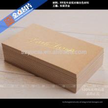 Verniz tipográfico de luxo papel vertical cartões de visita impressora