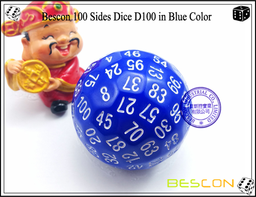 Bescon 100 Sides Dice D100 in Blue Color-1