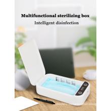 Caja de desinfección con luz ultravioleta para teléfono inteligente con carga USB