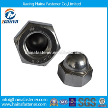 DIN standard Made in China in Stock Stainless steel Hex acorn nut