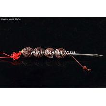 """Dragon Carving"" Walnut Handle Pu Er Prying Pick"