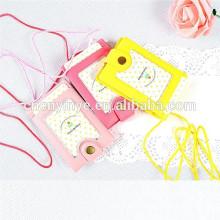 Suporte do cartão da identificação do PVC personalizado do silicone
