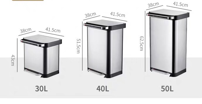 Rectangle Compactor Trash Bin