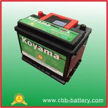 Bateria de carro da bateria do preço de fábrica 55ah 12V auto de Guangzhou